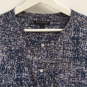 Banana Republic Tops - Blue splatter-print blouse from Banana Republic.